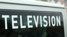 Television car. stock video
