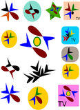 television channels logo Stock Photos