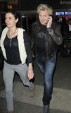 Television chef Gordon Ramsay with wife at LAX Stock Image