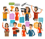 Television and cinema icons set. vector illustration Royalty Free Stock Images