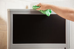 Television cleanup Royalty Free Stock Images