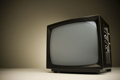 Television with clipping path. Royalty Free Stock Images