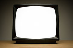 Television with clipping path. Royalty Free Stock Photography