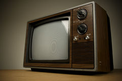 Television with clipping path. Stock Photography