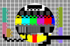 Television color test pattern Royalty Free Stock Photos