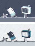 Television colored cartoon Royalty Free Stock Image