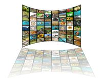 Television concept stock images