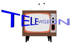 Television concept Stock Photos