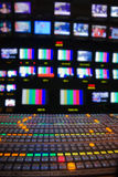 Television Control Room Stock Image