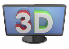 Television 3D Stock Image