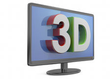 Television 3D Royalty Free Stock Photography