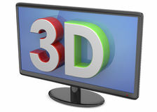 Television 3D Royalty Free Stock Image