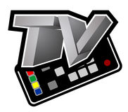 Television design. Creative design of television design Royalty Free Stock Photography