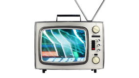 Television distortion and static Royalty Free Stock Image