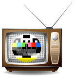 Television with end transmission signal Royalty Free Stock Images