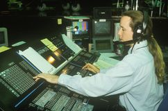 Television Engineer, Atlantic City, New Jersey Stock Photography