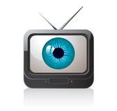 Television eye. Illustration of a TV with a picture of an eye on the screen Royalty Free Stock Image