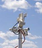 television för antennbroadcastremote Arkivfoton