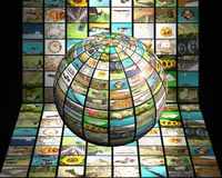 television för begrepp 3d Arkivbild