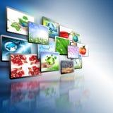 television för internetproduktionteknologi Royaltyfria Foton