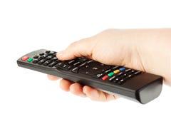television för remote för kontrollanthandmottagare royaltyfria foton