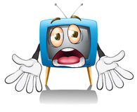 A television with face Royalty Free Stock Photos