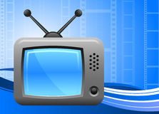 Television on film reel background Royalty Free Stock Photos