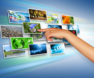 television för internetproduktionteknologi Arkivfoto
