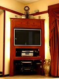 Television Furniture. A beautiful room with a television set in it Stock Photos