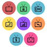 Television icon designs Stock Images