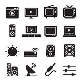 Television icon set Royalty Free Stock Image