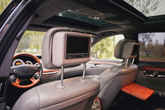 Television inside a car. Royalty Free Stock Photography