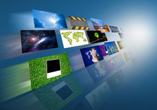 Television and internet Royalty Free Stock Photos