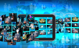 Television and internet production  business conc Royalty Free Stock Image