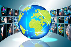 Television and internet production royalty free stock photo