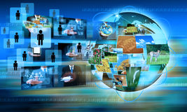 Television and internet production Stock Images