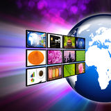Television and internet production technology concept Stock Image