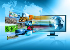 Television and internet production technology Royalty Free Stock Image