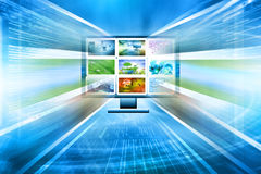 Television and internet production technology Royalty Free Stock Photography