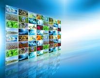 Television and internet production technology concept. Best Internet Concept of global business Stock Images