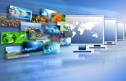 Television and internet production technology Stock Image
