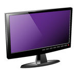 Television-LCD-TV-3D Royalty Free Stock Photos
