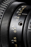 Television Lens focussing ring close-up Stock Photo