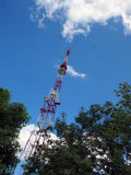 Television metal tower Royalty Free Stock Images