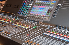 Television mixing console Stock Photo