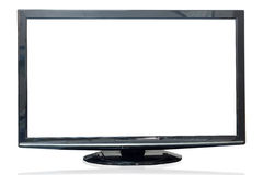 Television monitor isolated on white background. Royalty Free Stock Photos