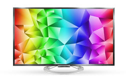 Television monitor rainbows texture sky isolated on white backgr Stock Images
