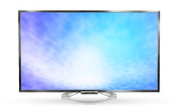 Television monitor texture sky isolated on white background. Royalty Free Stock Photo