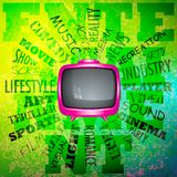 Television on Musical Abstract Stock Images