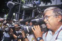 Television news crews Stock Photography